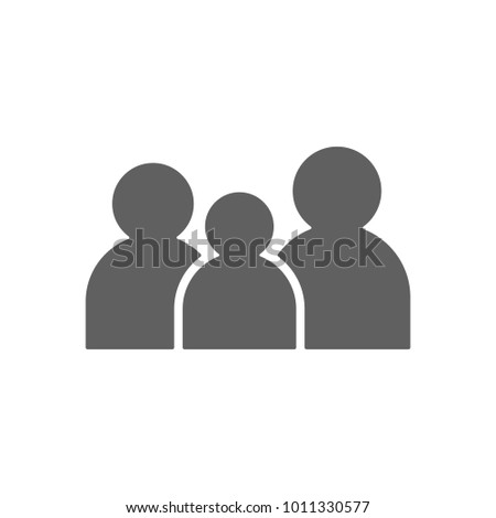 Family icon in trendy flat style isolated on white background. Symbol for your web site design, logo, app, UI. Vector illustration, EPS