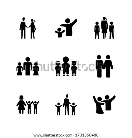 family  icon or logo isolated