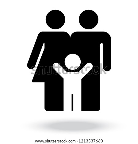 family Icon . parents symbol for your web site design, logo, app, UI. Vector illustration,
