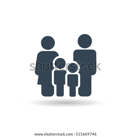 Family Icon Vector . Flat Sign for using in the App, UI, Art, Logo, Web. - Shutterstock ID 515669746