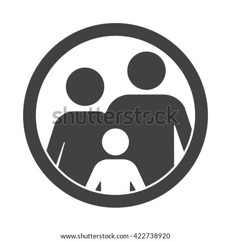 family Icon Vector Illustration on the white background. - Shutterstock ID 422738920