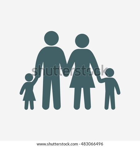 family icon vector isolated on white background