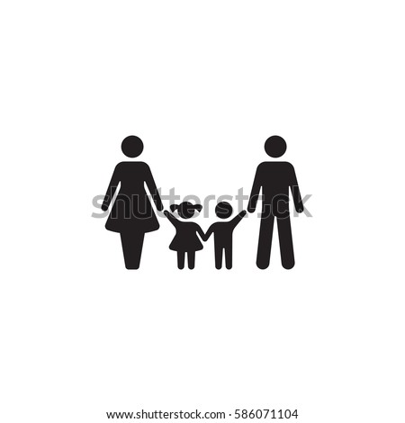 Family Icon Vector on the white background