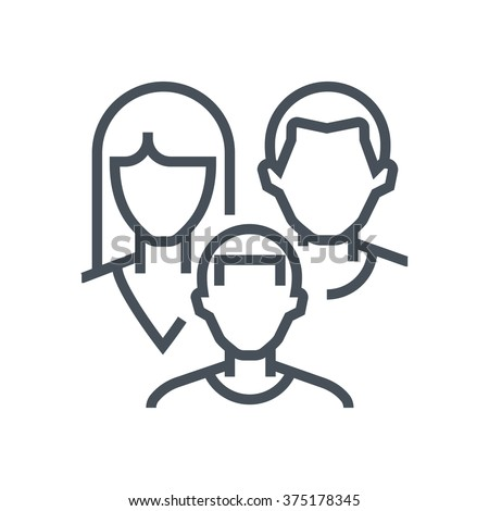 Family insurance icon suitable for info graphics, websites and print media and  interfaces. Line vector icon.