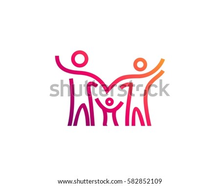 family and community logo download free vector art stock graphics