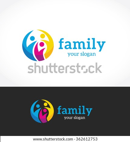 Family Logo,people logo,vector logo template
