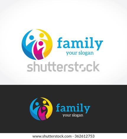 Family logo template