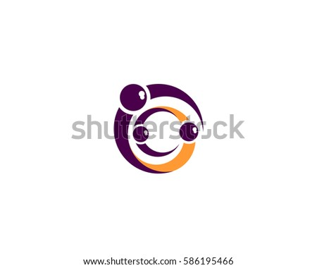 Family logo together. Family vector icon