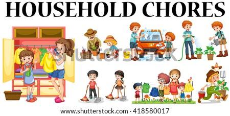Job Chart Chore Chart Clip Art | Job chart, Clip art, Chore chart kids