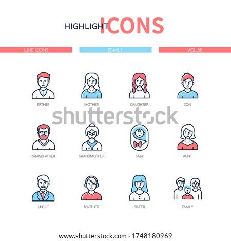 family members   line design