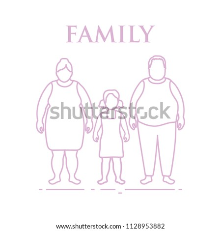 Family. Mom, dad and daughter. Couple with a child.