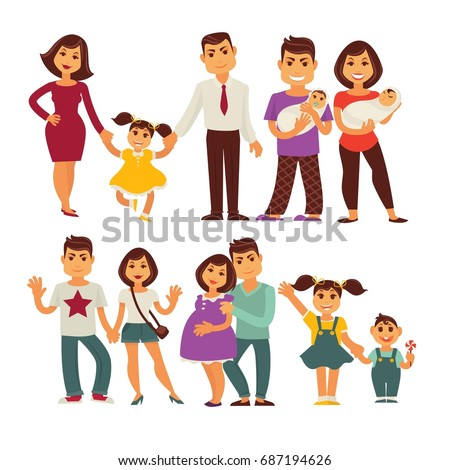 family mother  father and