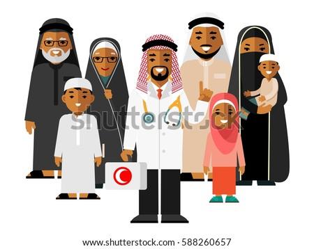 family muslim arabic doctor