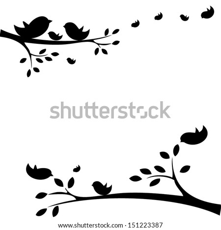 family of birds sitting on a