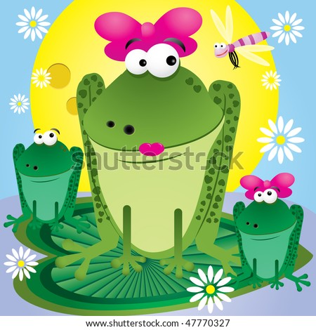 Cartoon Pics Of Frogs. of fun cartoon frogs for
