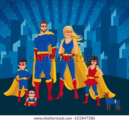 family of superheroes poster