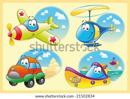 Family of vehicles - stock vector