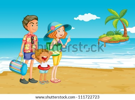 family outing to the beach