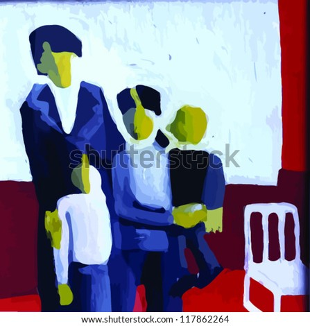 family, painting