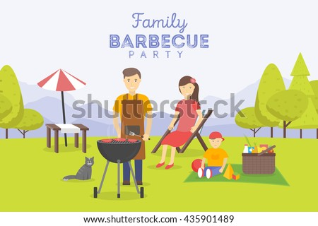family picnic bbq party food
