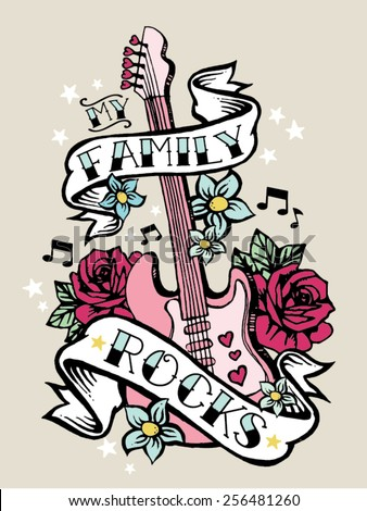family rocks girls rock tshirt