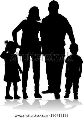 stock-vector-family-silhouette