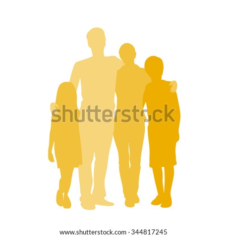 family silhouette  full length