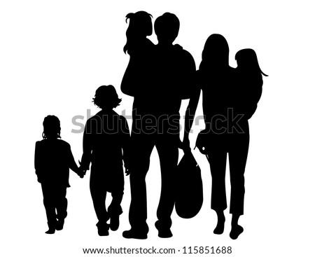 family silhouette vector file vecteezy com rh vecteezy com family silhouette vector free happy family silhouette vector