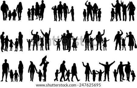 stock-vector-family-silhouettes