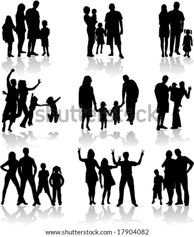 http://image.shutterstock.com/display_pic_with_logo/88321/88321,1222334853,13/stock-vector-family-silhouettes-in-different-situations-17904082.jpg