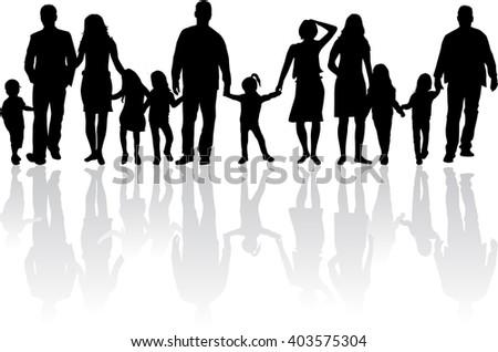 family silhouette vector file vecteezy com rh vecteezy com walking family silhouette vector black family silhouette vector