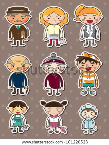 Family Stickers For Cars Vector family stickers - stock vectorFamily Stickers For Cars Vector