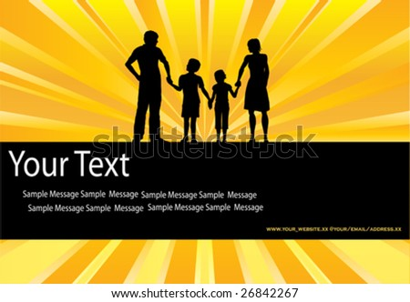Family Sunburst Background