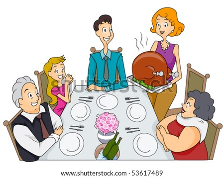 Family Thanksgiving - Vector