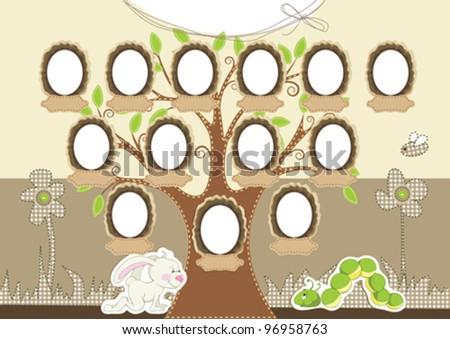 Cartoon Family Tree Template Family tree.