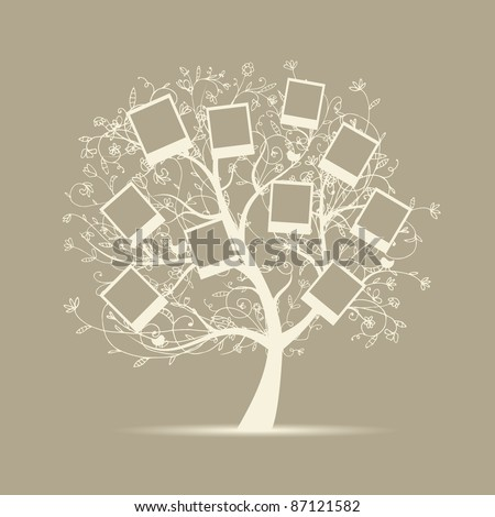 family tree design  insert your