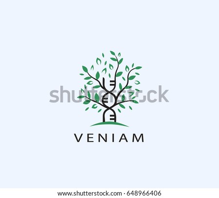 Family tree DNA vector logo.