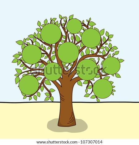 Family tree - frames empty for your input, vector