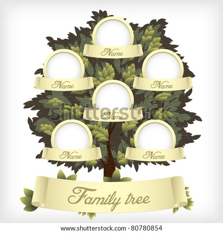 Family tree.Vector illustration.