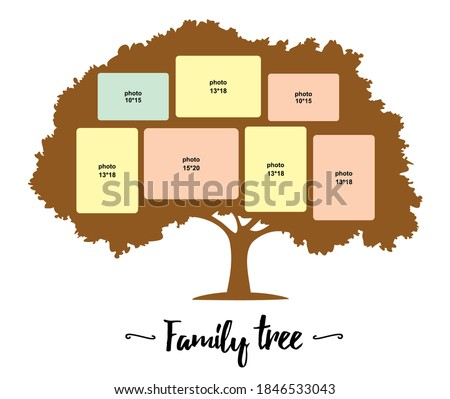 family tree vector silhouette