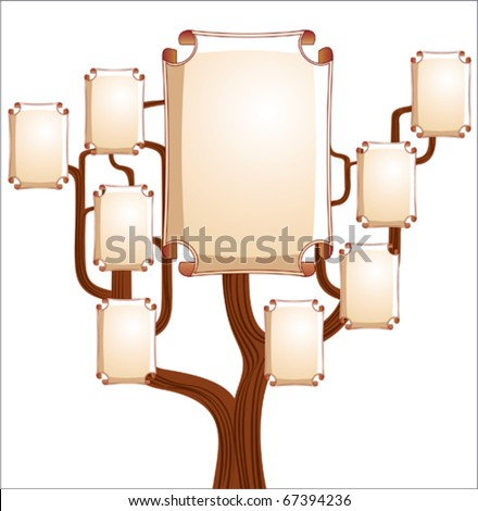 Family tree with empty emblems