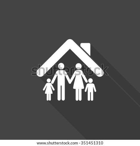 family vector icon with long shadow