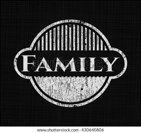 Family with chalkboard texture