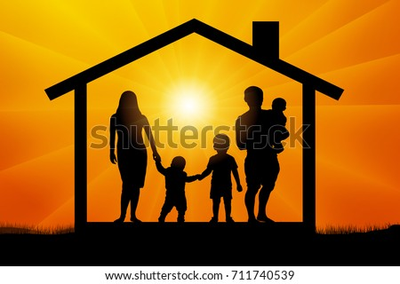 family with three children in