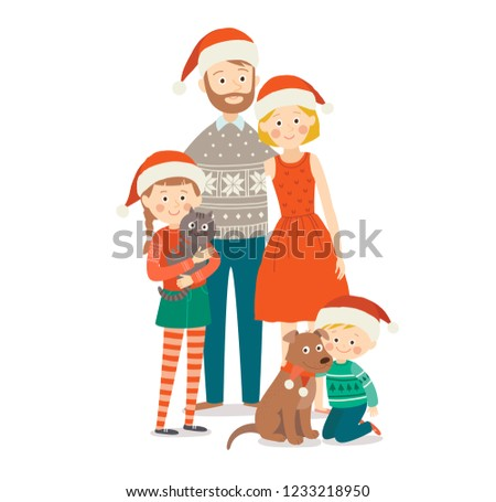 family with two children at