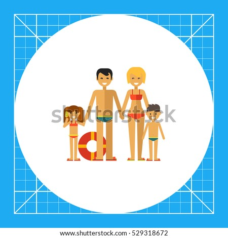 family with two children on