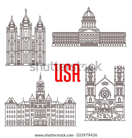 famous buildings icons of usa