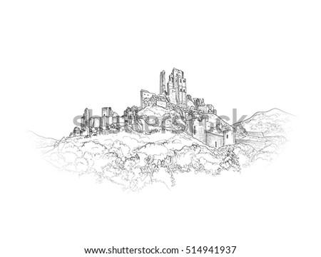 famous castle landscape