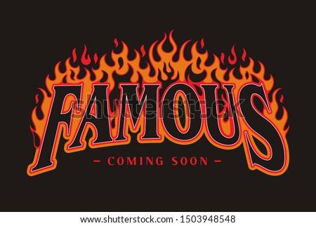 Famous Coming Soon slogan print design