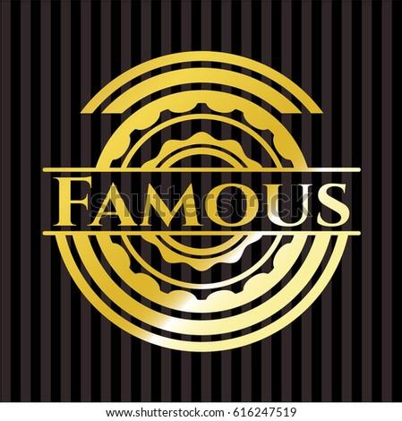 famous gold emblem or badge